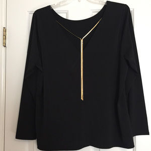 Lane Bryant Elegant Top with Chain Detail - 18W